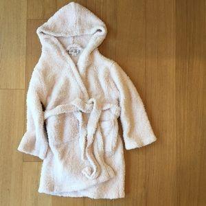 Pink barefoot dreams soft bathrobe. Size 5